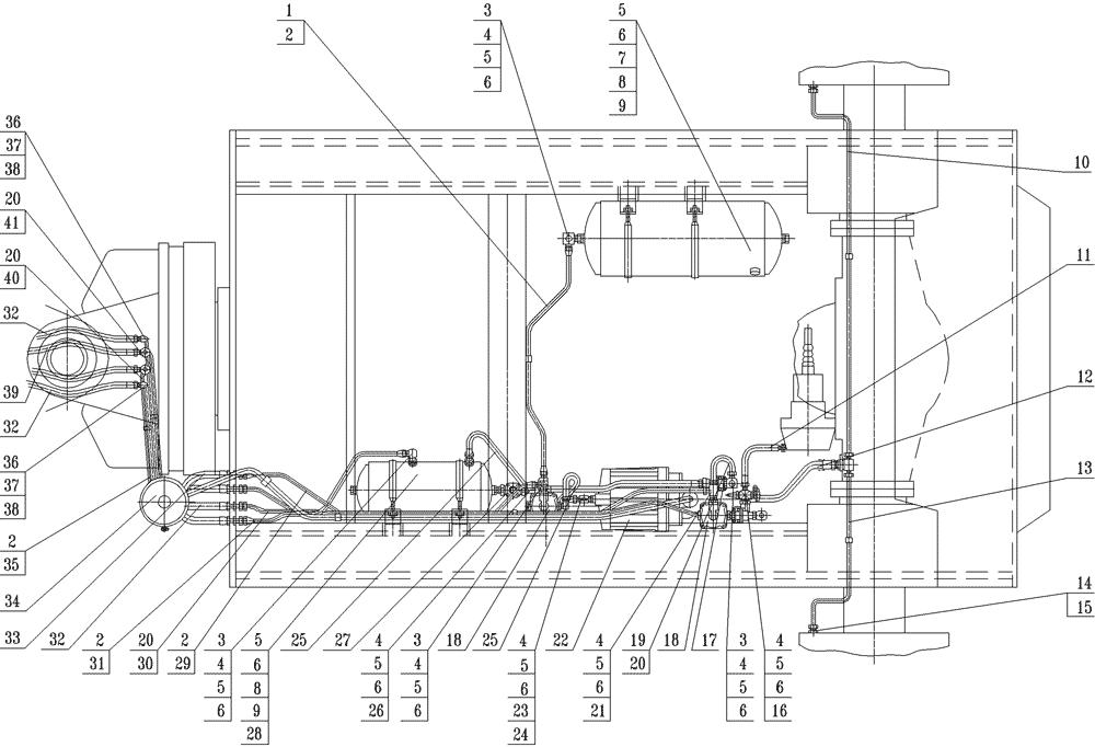 Угольник 402741 / Установка пневмосистемы задней секции -
